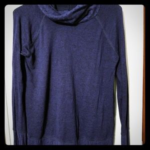 Staccato Ribbed Long Sleeve Turtleneck-Navy